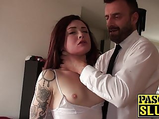 18yo slut Chloe Carter choked with hands and big dick