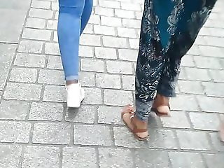 Young Lady in sexy thight jeans