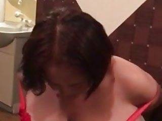 Asian BBW Granny Stripping