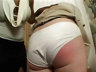 cotton panty spanking natural wedgie