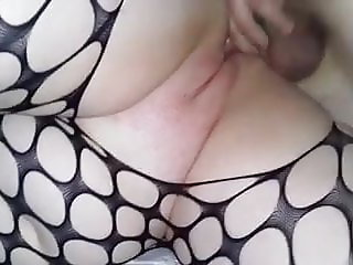 Sexy, curvy friend in bodystocking getting fucked