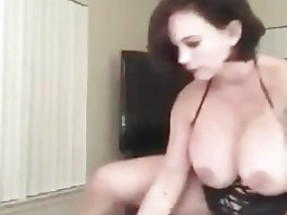 Huge titted mature riding and sucking dick
