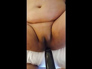 WIFE  GETTING FUCKED BY 10 INCH PENIS EXTENTION