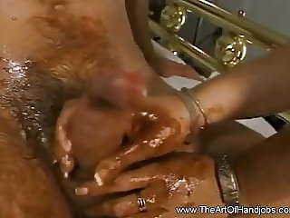 Blonde Mom Makes A Sloppy Breakfast Handjob