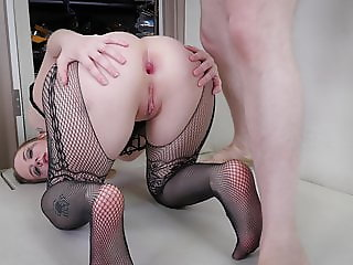 Brutal ass to mouth punishment for sweet blond PAWG
