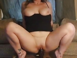 Riding BBC Dildo
