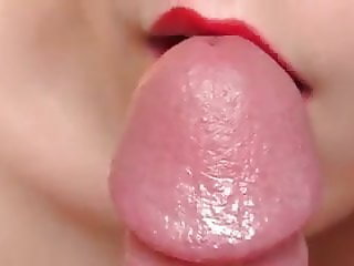 wife beautiful lips geting all over my cock