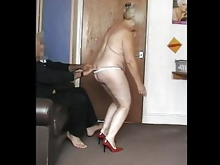 Granny Dancing Naked in Red Heels