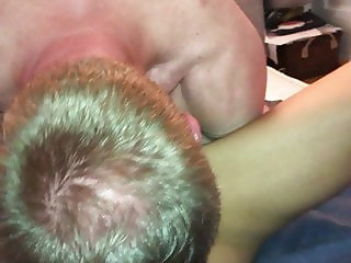 Assrimming licking and sucking and sloppy kissing