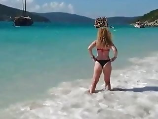Son tries to film moms ass at beach without getting busted