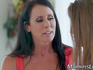 Stunning Lena Paul amazed with stepmom tits and oralled