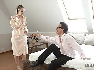 Pretty girl couldn't deny opportunity to taste daddy