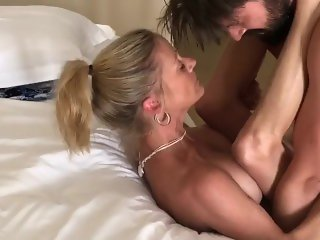 Busty Cougar Passionate Missionary and Doggy Pounding
