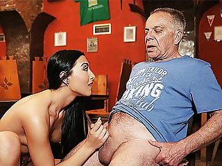 DADDY4K. Angry guy catches old dad fucking his good-looking