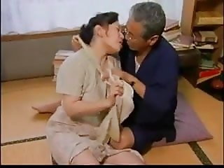 Japanese milf fuck son and father