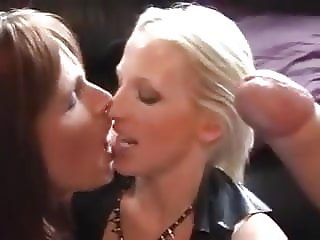 Male Female Shemale With Awesome Cum Kiss at the End
