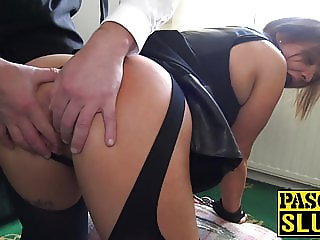 Luscious Sienna Hudson toys pussy during severe banging