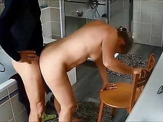 My wife fucked after morning run 2 on hidden cam