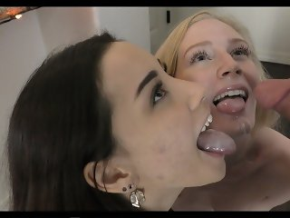 Two cock hungry whores need money bad to get to Vegas - 4k