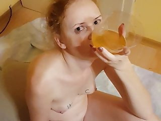 Wife swallow all my piss