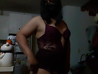 Crossdresser in teddy