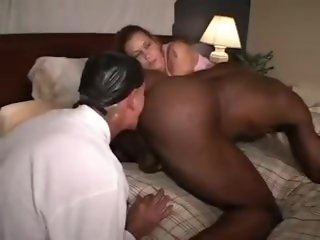 slut wife makes cuckold husband clean up BBC bull