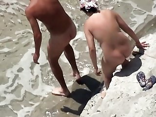 Two Nude Beach Handjobs (special today 2 for the price of 1)