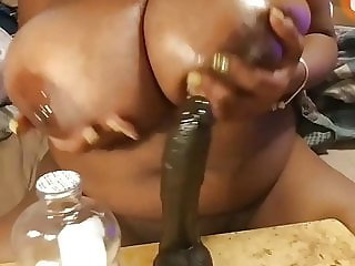 oily spitty tit show