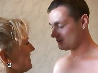 Amateur couple in bathroom