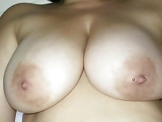 Big Natural Bouncy MILF Boobs Get Covered in Cum!
