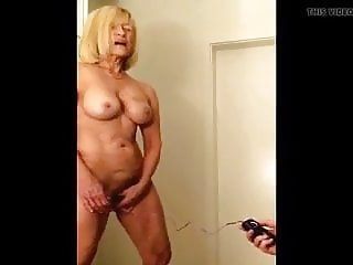 Jerking of to friends MOM using DILDO in front of me