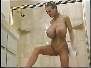 Tiffany Towers relaxing in  a pool before fucking