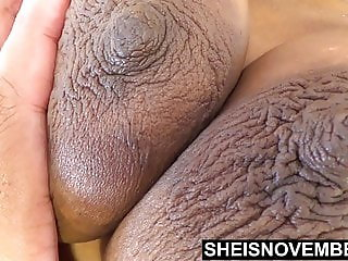 Brown Skin Girl Cute Large Nipples Squeezed Tits Slow Motion