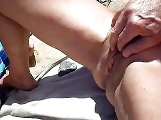 cuck films wife getting fingered on the beach
