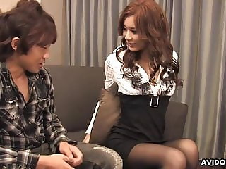 Japanese housewife, Erena is cheating and having hardcore se