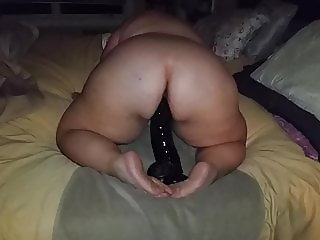 Bbw and her huge dildo again