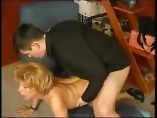 SEXY BLONDE MOM & SON ANAL (vintage)