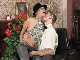 Russian aunt caught young man sniffing her pantyhose