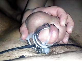 Teased & edged to ruined orgasm in chastity