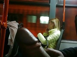 Flashing a hot blonde. Looks & likes.