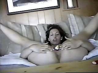 ex carla getting herself on tape for me while i am at work.