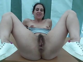 Anal sex with a hairy French MILF