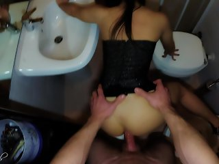 MILF Night Out Routine: makeUp,high heels & ANAL CREAMPIE to keep ass lubed