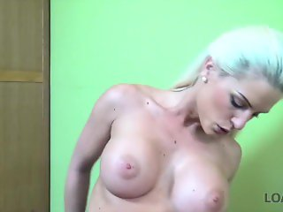 LOAN4K. Greta loan porn of bewitching Blanche and tricky manager