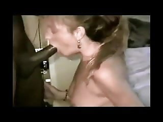 Blonde MILF gets her throat abused by her BBC master