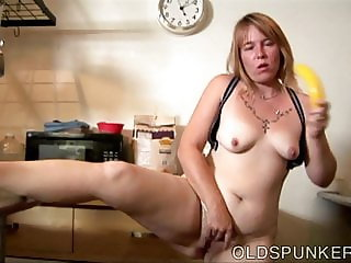 Super sexy old spunker loves to get kinky in the kitchen