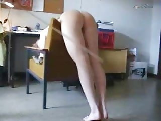 Clip 04An - Just a Nice Naked Caning