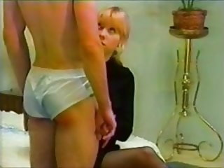 Spanked in pantyhose