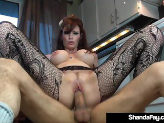 Horny Housewife Shanda Fay Bangs Hubby On The Floor!