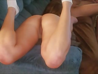 Hot ass wife fucked on couch